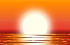 Słońce z odbiciem w wodzie Fotografia Stock