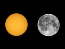 Słońce z sunspots widzieć z teleskopem Obraz Royalty Free