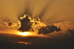 słońce za chmury Fotografia Stock
