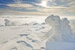 słońce zima fotografia royalty free
