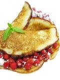 Słodcy bliny z dzikiej truskawki owocową galaretą Zdjęcia Royalty Free