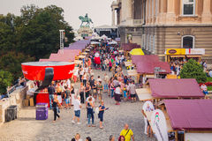 Słodcy dni - czekolady i cukierku festiwal w Budapest, Węgry Zdjęcia Royalty Free