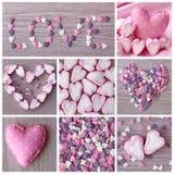 słodcy kolaży serca Zdjęcie Stock