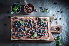 Słodcy opłatki robić czekoladowi i świezi składniki obraz stock