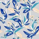 Słodcy pastelowi tropikalni liście Bezszwowy graficzny projekt z amazi Obrazy Stock