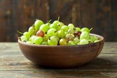 Słodka świeża agrestowa jagoda fotografia stock