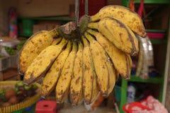 Słodka żółta bananowa sprzedaż Obrazy Stock