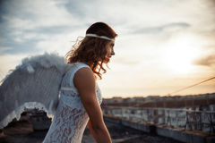 Słodka anioł dziewczyna Zdjęcia Royalty Free