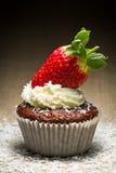 słodka bułeczka czekoladowa truskawka Fotografia Stock