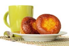 Słodka bułeczka z herbatą Zdjęcie Stock