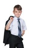 słodka chłopca do szkoły Obraz Stock