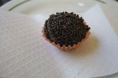 Słodka ciemna czekolada wypełniająca fotografia stock