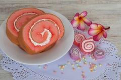 Słodka dżem rolka Zdjęcie Royalty Free
