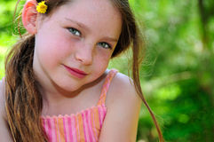 słodka młoda dziewczyna Obraz Royalty Free