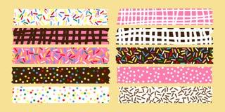 Słodka maskuje taśmy kolekcja dla scrapbooking Zdjęcia Stock