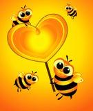 Słodka miłość sercem jest Fotografia Stock