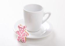 Słodka niespodzianka dla kawy zdjęcia royalty free