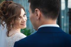 Słodka nowożeńcy para obraz royalty free
