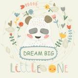 słodka panda royalty ilustracja