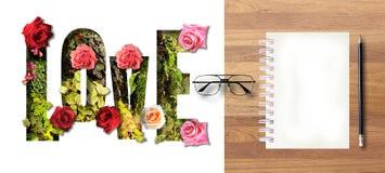 Słodka walentynki miłości pocztówka Fotografia Stock