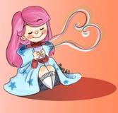 Słodka ziołowa herbata miłość ilustracja wektor