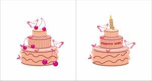 Słodki śmietanka tort odizolowywający Zdjęcie Royalty Free