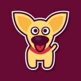Słodki żółty szczeniak Obraz Royalty Free