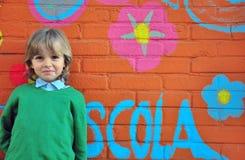słodki chłopiec się uśmiecha Zdjęcie Royalty Free
