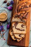 Słodki chleb z czekoladą Zdjęcie Royalty Free