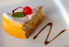 Słodki ciastko z morelą i wiśniami Obrazy Royalty Free