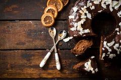 Słodki czekoladowy tort Zdjęcia Royalty Free