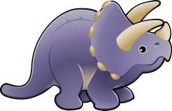 słodki dinozaura illu triceratops Zdjęcia Royalty Free