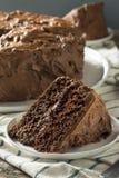 Słodki Domowej roboty Ciemny Czekoladowy warstwa tort obrazy stock