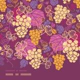 Słodki gronowych winogradów horyzontalny rabatowy bezszwowy royalty ilustracja