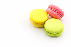Słodki i colourful francuski macaron lub macaroons zdjęcia royalty free