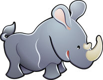 słodki ilustracyjny nosorożec wektora Zdjęcie Royalty Free