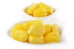 Słodki jackfruit na bielu Obraz Stock