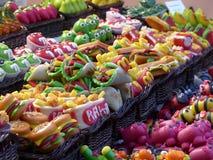 Słodki jedzenie w typowym rynku obraz royalty free