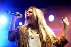 Słodki Kalifornia przy Primavera wystrzału festiwalem (dziewczyna zespół) Zdjęcie Stock