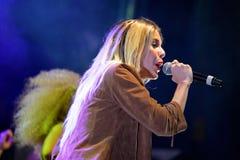 Słodki Kalifornia przy Primavera wystrzału festiwalem Los 40 Principales (dziewczyna zespół) Fotografia Royalty Free