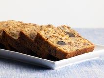 Słodki karmowy deser, tort w ustawiać minimalny Zdjęcia Stock
