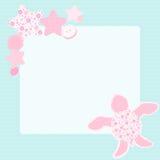 Słodki kartka z pozdrowieniami z żółwiem Obrazy Stock