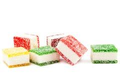 Słodki koloru cukierek na białym tle Obrazy Royalty Free