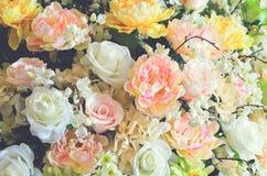 Słodki koloru sztucznego kwiatu tło Obrazy Royalty Free
