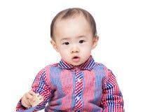 Słodki małe dziecko fotografia royalty free