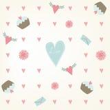 Słodki saemless walentynka dnia wzór. ilustracja wektor