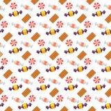Słodki scandy i ciastka bezszwowy wzór Zdjęcie Stock