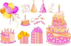 Słodki ustawiający dla przyjęcia urodzinowego Fotografia Stock