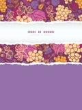 Słodki vertical drzejący gronowych winogradów ramowy bezszwowy Obrazy Royalty Free