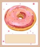Słodki wyśmienicie pączka deser w różowym glazerunku Obraz Royalty Free